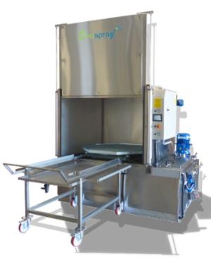 Machine de lavage à panier rotatif pour des volumes et poids importants
