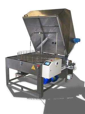 Laveur manuel et automatique à décantation des liquides