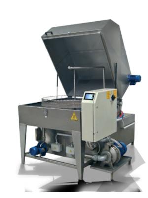 Laveur automatique avec plusieurs phases de traitements