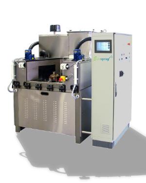 Machine de lavage et traitement des pièces dédiées