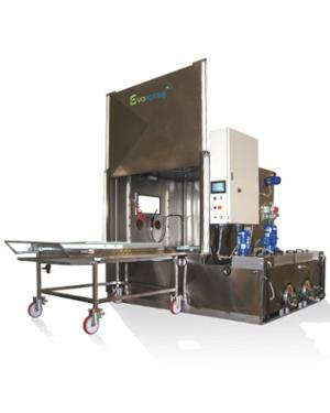 Machine de lavage à panier rotatif avec 2 ou plusieurs bains de traitement